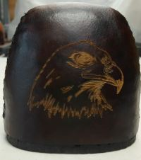 Eagle Custom engraved into hood of quiver
