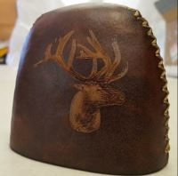 Bull Elk Custom engraved into hood of quiver