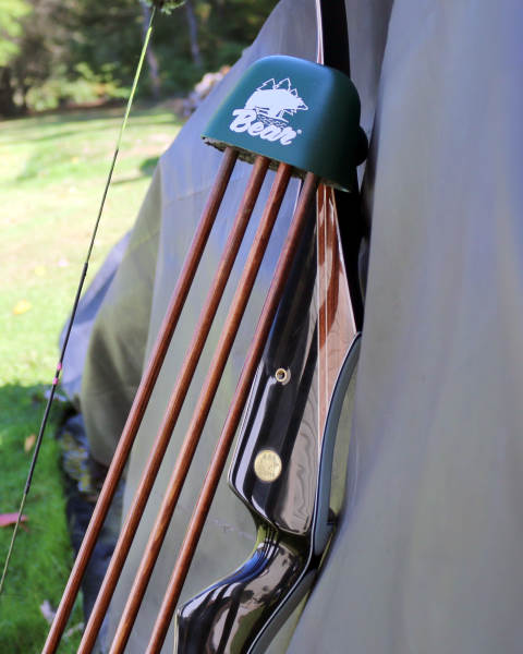 Grayling quiver model mounted to a Bear Bow