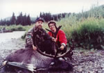 Do you know the hunter who is with this Caribou