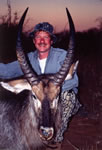 Todd F. Lewis and a very nice Waterbuck